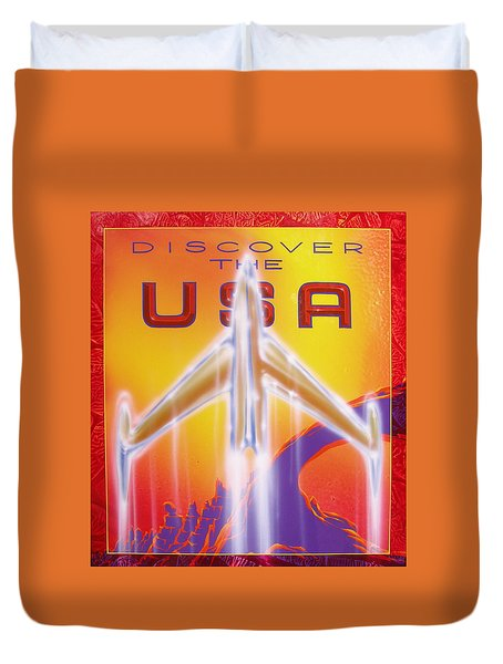 Discover The Usa Duvet Cover