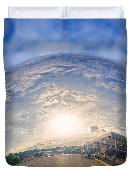 Distorted Reflection Duvet Cover by Sennie Pierson