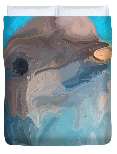 Dolphin Duvet Cover by Chris Butler