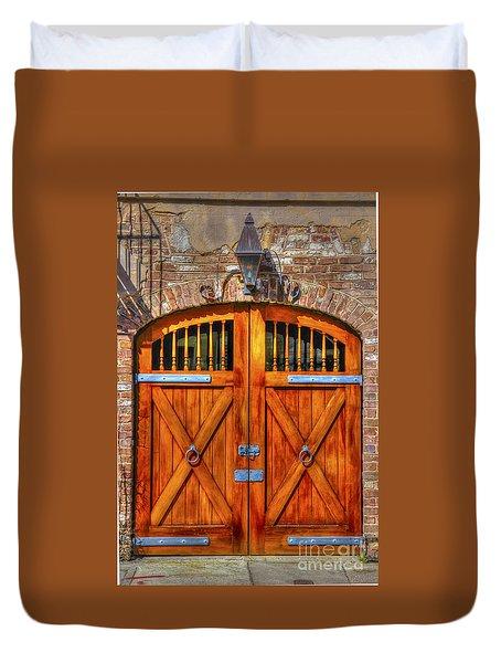 Doors Of Charleston Duvet Cover