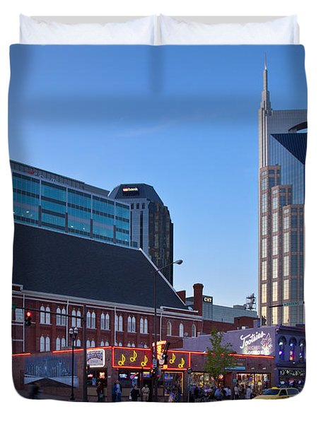 Duvet Cover featuring the photograph Downtown Nashville by Brian Jannsen