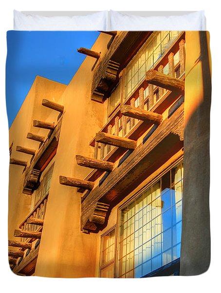 Downtown Santa Fe Duvet Cover