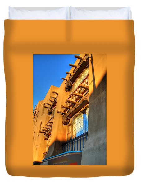 Downtown Santa Fe Duvet Cover