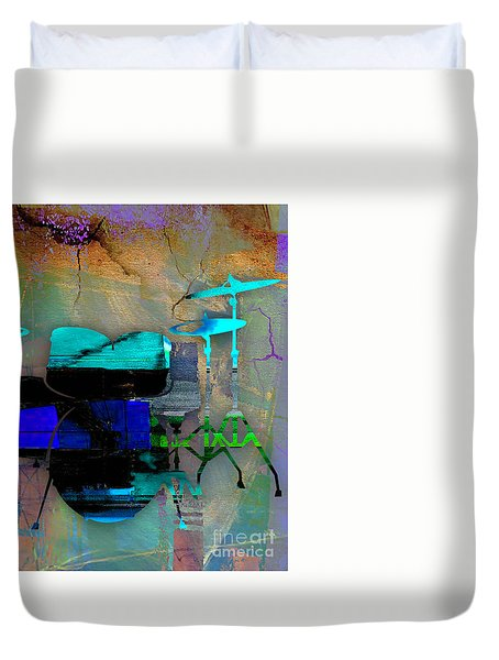 Drums Duvet Cover by Marvin Blaine