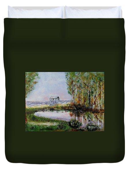 Fairhope Al. Duck Pond Duvet Cover by Melvin Turner