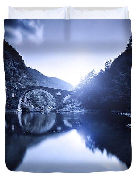 Dyavolski Most Arch Bridge Duvet Cover by Evgeny Kuklev