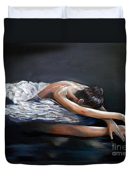 Dying Swan Duvet Cover