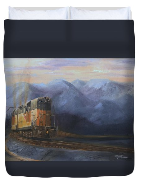 East Of The Belt Range Duvet Cover by Christopher Jenkins