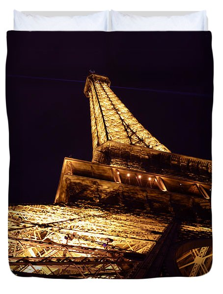 Eiffel Tower Paris France Duvet Cover by Patricia Awapara