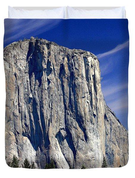 El Capitan Yosemite National Park Duvet Cover by Bob and Nadine Johnston