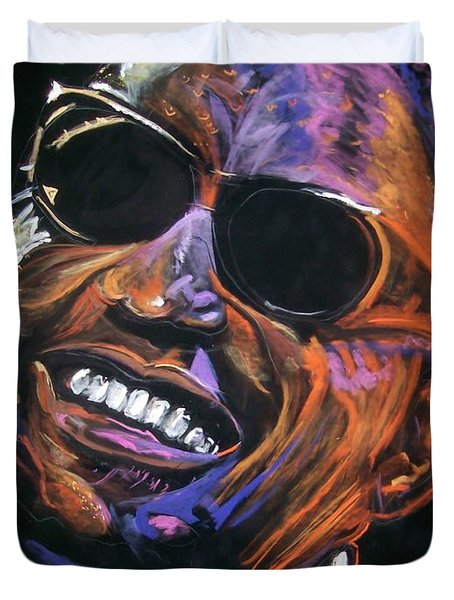 electric Ray Charles Duvet Cover by Peter Suhocke