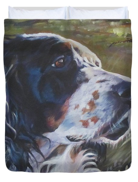 English Setter Duvet Cover
