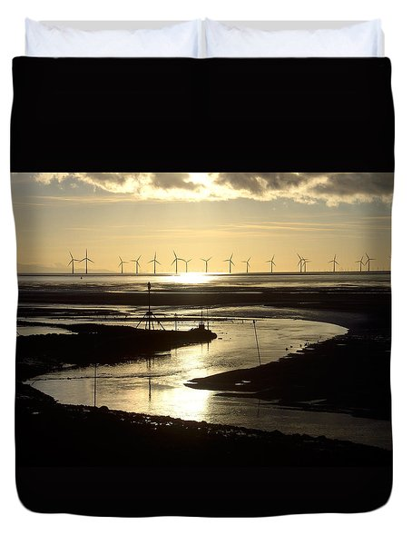 Evening Low Tide  Duvet Cover