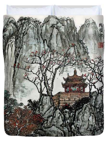 Duvet Cover featuring the photograph Fall Colors by Yufeng Wang