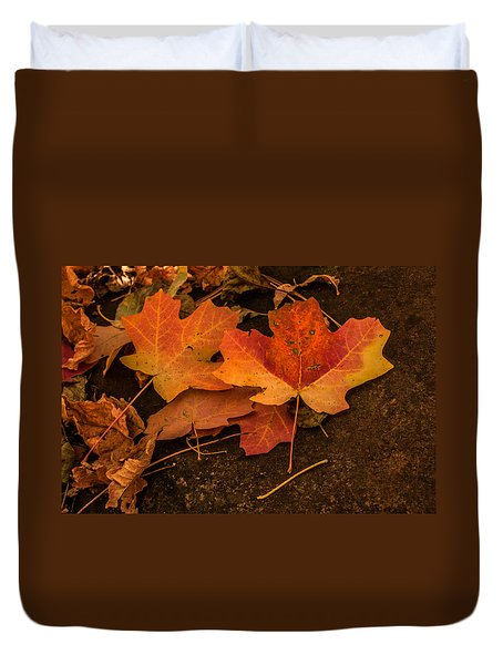 West Fork Fallen Leaves Duvet Cover