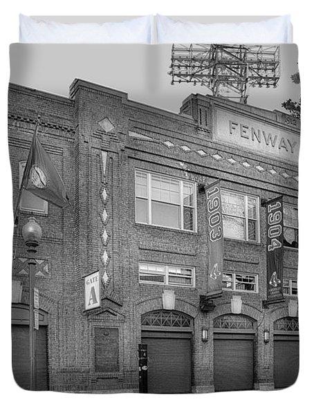 Fenway Park - Best Of Boston Duvet Cover by Susan Candelario