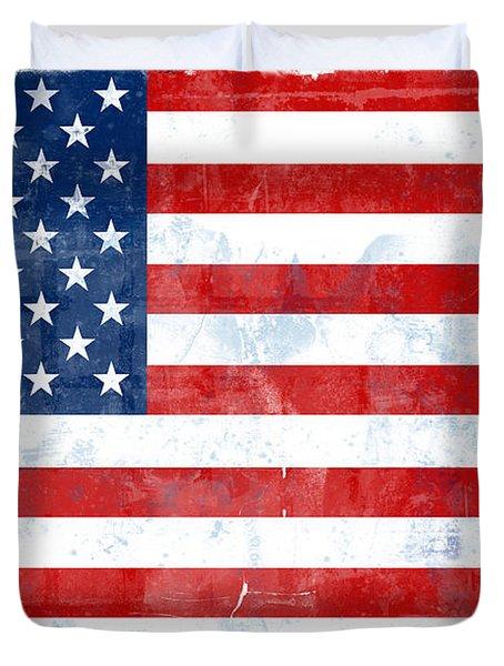 Flag Of Usa Duvet Cover by Modern Art Prints