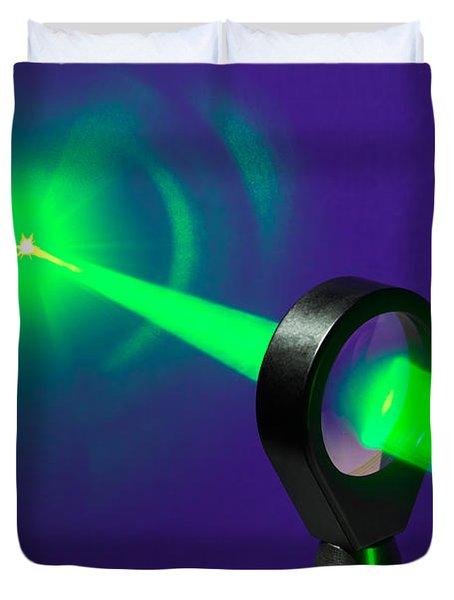 Focusing Laser Light Duvet Cover