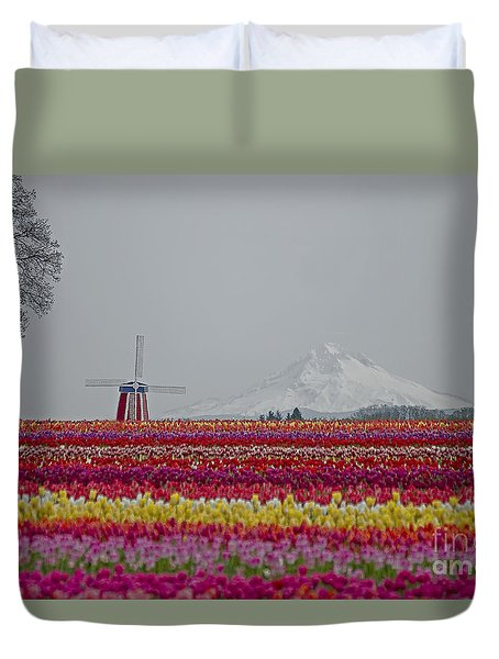 For The Beauty Of The Earth Duvet Cover by Nick  Boren