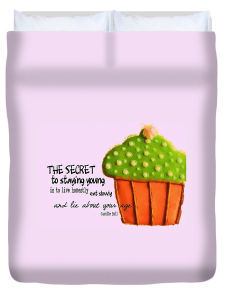 Forever Young Quote Duvet Cover by JAMART Photography