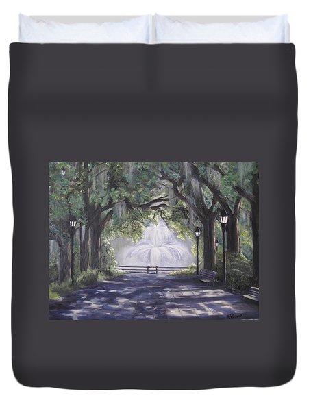 Forsythe Park Duvet Cover by Roberta Rotunda