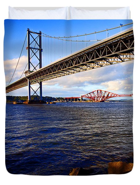 Forth Bridges Duvet Cover