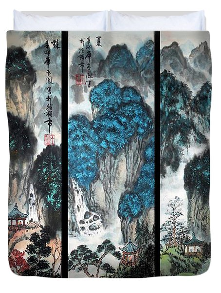 Four Seasons In Harmony Duvet Cover by Yufeng Wang
