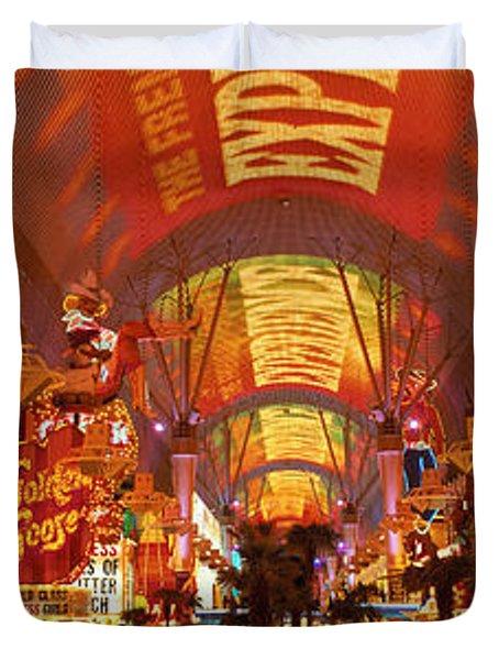 Fremont Street Experience Las Vegas Nv Duvet Cover