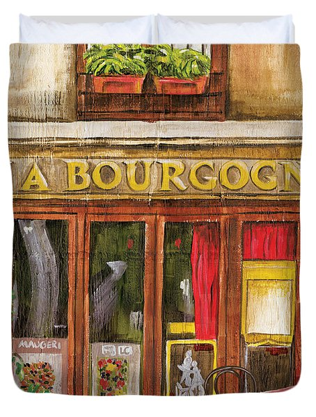 French Storefront 1 Duvet Cover