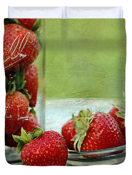 Fresh Berries Duvet Cover by Darren Fisher