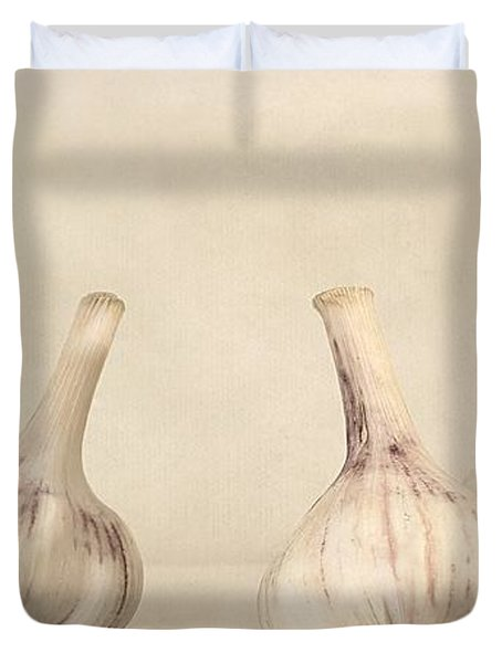 Fresh Garlic Duvet Cover by Priska Wettstein