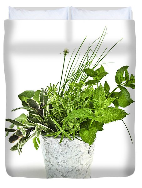 Fresh Herbs Duvet Cover