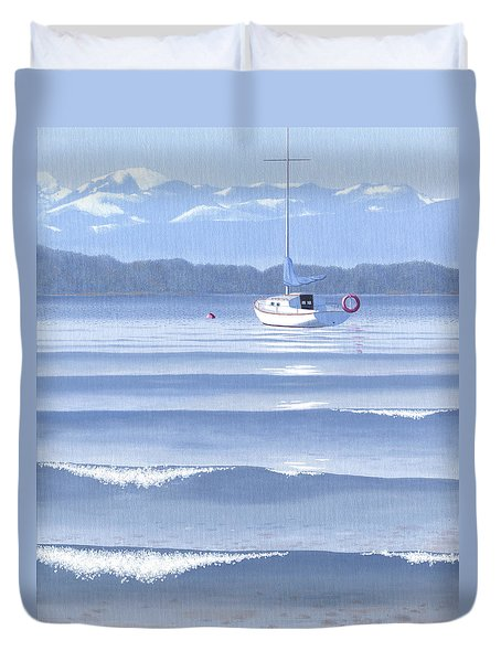 Duvet Cover featuring the painting From The Beach by Gary Giacomelli