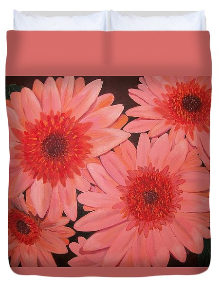 Gerber Daisies Duvet Cover by Sharon Duguay