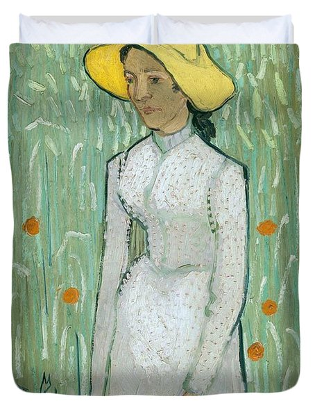 Girl In White Duvet Cover by Vincent van Gogh