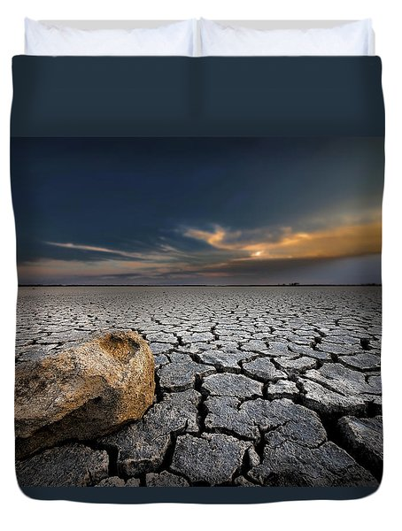 Global Warming Duvet Cover