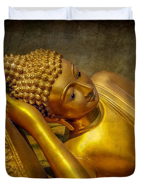 Golden Buddha Duvet Cover by Adrian Evans