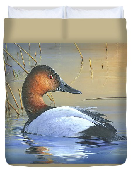 Golden Reflections Duvet Cover