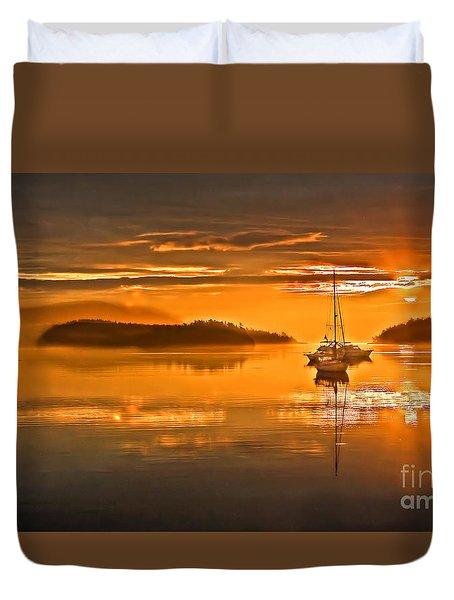 Golden  Sunrise Duvet Cover by Robert Bales