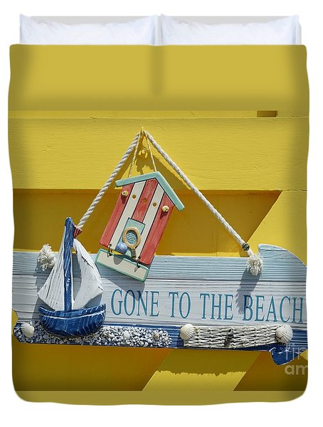 Gone To The Beach Duvet Cover