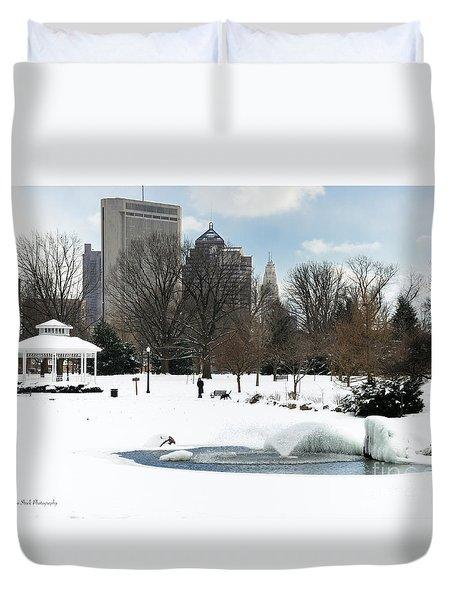 D48l3 Goodale Park Photo Duvet Cover