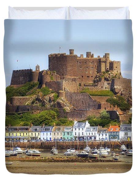 Gorey Castle - Jersey Duvet Cover by Joana Kruse