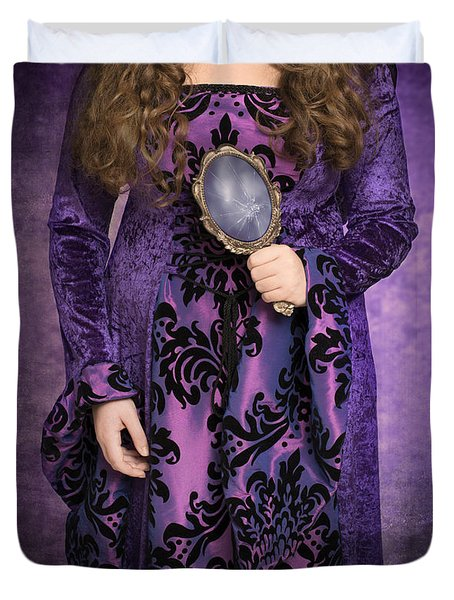 Gothic Woman Duvet Cover by Amanda Elwell