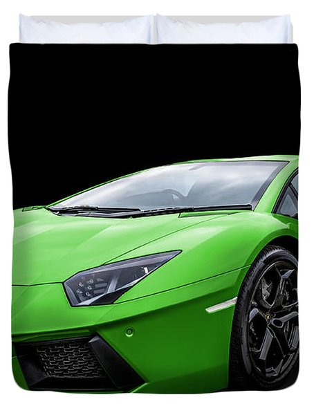Green Aventador Duvet Cover