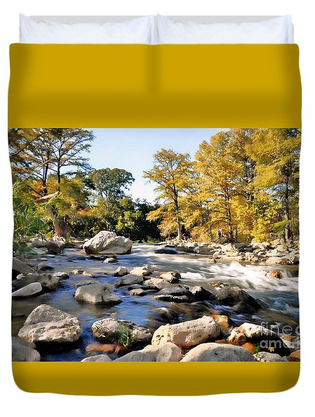 Guadalupe River  Duvet Cover by Savannah Gibbs