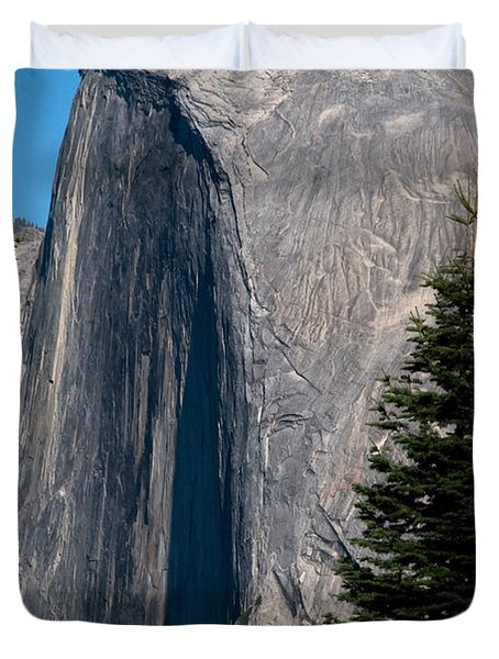 Half Dome, Yosemite Np Duvet Cover by Mark Newman