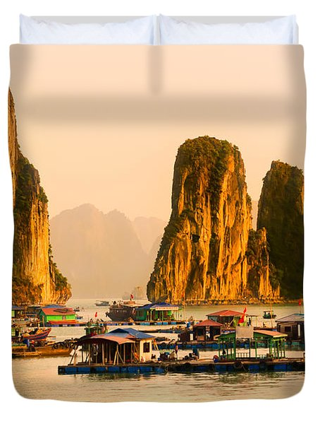 Halong Bay - Vietnam Duvet Cover by Luciano Mortula