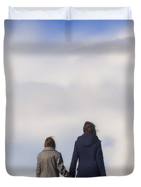 Hand In Hand Duvet Cover
