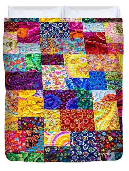 Hand Made Quilt Duvet Cover by Sherman Perry