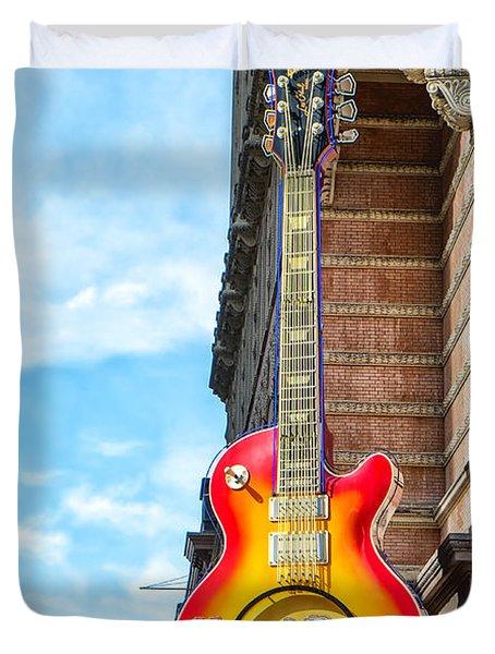 Hard Rock Cafe Guitar Duvet Cover